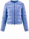 Куртка стеганая с круглым вырезом oodji #SECTION_NAME# (синий), 10203050-2B/47020/7502N