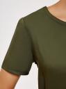 Платье вискозное с ремнем oodji #SECTION_NAME# (зеленый), 11901154-2/47741/6800N - вид 5