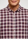 Рубашка хлопковая с нагрудным карманом oodji #SECTION_NAME# (красный), 3L310187M/49364N/7945C - вид 4