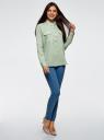 Рубашка хлопковая с нагрудными карманами oodji #SECTION_NAME# (зеленый), 13L11009/45608/7000N - вид 6