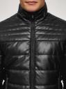 Куртка стеганая из искусственной кожи oodji #SECTION_NAME# (черный), 1L111055M/47397N/2900N - вид 4