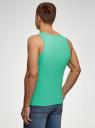 Майка базовая oodji для мужчины (зеленый), 5B700000M/44135N/6500N