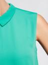 Блузка базовая без рукавов с воротником oodji #SECTION_NAME# (зеленый), 11411084B/43414/6D00N - вид 5