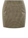 Юбка короткая с карманами oodji #SECTION_NAME# (бежевый), 11605056-2/22124/3329C
