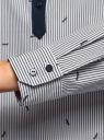 Рубашка принтованная oodji #SECTION_NAME# (синий), 13K03002-3B/45202/1079S - вид 5