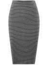 Юбка в рубчик на резинке oodji #SECTION_NAME# (серый), 14101086/46502/2529S