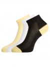 Комплект из трех пар укороченных носков oodji для женщины (разноцветный), 57102418-1T3/47613/9 - вид 2