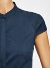 Рубашка с коротким рукавом из хлопка oodji #SECTION_NAME# (синий), 11403196-1/18193/7900N - вид 4