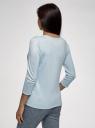 Джемпер базовый с круглым вырезом   oodji для женщины (синий), 63812687/50629/7000M