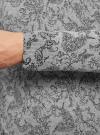 Пуловер вязаный с принтом oodji #SECTION_NAME# (серый), 4L212151M/44326N/2329F - вид 5