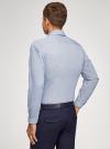 Рубашка приталенная с графичным принтом oodji #SECTION_NAME# (синий), 3L110249M/44425N/1079G - вид 3