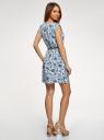 Платье вискозное без рукавов oodji #SECTION_NAME# (белый), 11910073B/26346/1270F - вид 3
