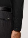 Рубашка базовая приталенного силуэта oodji #SECTION_NAME# (черный), 3B110012M/23286N/2900N - вид 5