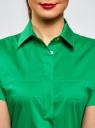 Платье-рубашка с поясом oodji #SECTION_NAME# (зеленый), 21900311/42358/6D00N - вид 4