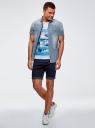 Рубашка джинсовая приталенная oodji для мужчины (синий), 6L510000M/35771/7500W