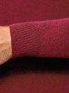 Пуловер базовый с V-образным вырезом oodji #SECTION_NAME# (красный), 4B212007M-1/34390N/4C00M - вид 5