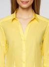 Рубашка приталенная с V-образным вырезом oodji #SECTION_NAME# (желтый), 11402092B/42083/6700N - вид 4