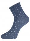 Комплект из трех пар хлопковых носков oodji #SECTION_NAME# (разноцветный), 57102807T3/47613/27 - вид 4