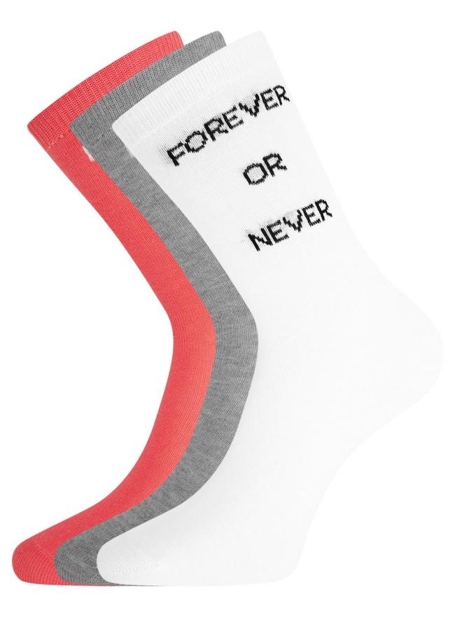 Комплект высоких носков (3 пары) oodji #SECTION_NAME# (разноцветный), 57102902T3/47469/18