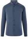 Рубашка приталенная в мелкую графику oodji #SECTION_NAME# (синий), 3L110345M/19370N/7479G