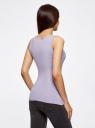Комплект из двух базовых маек oodji для женщины (фиолетовый), 24315001T2/46147/8000N