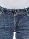 Джинсы skinny с молниями oodji для женщины (синий), 12105051/45379/7500W
