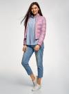 Куртка стеганая с воротником-стойкой oodji для женщины (фиолетовый), 10203038-5B/47020/8000N - вид 6