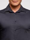 Рубашка базовая приталенная oodji для мужчины (синий), 3B140000M/34146N/7901N - вид 4