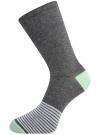 Комплект высоких носков (3 пары) oodji #SECTION_NAME# (разноцветный), 57102902T3/47469/46