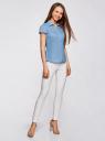 Блузка принтованная из легкой ткани oodji #SECTION_NAME# (синий), 21407022-9/12836/7510D - вид 6