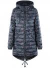 Куртка удлиненная с асимметричным низом oodji #SECTION_NAME# (черный), 10203056-2B/42257/2919F