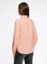 Блузка базовая из вискозы oodji #SECTION_NAME# (розовый), 11411136B/26346/4B12D - вид 3