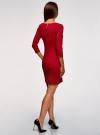 Платье облегающего силуэта на молнии oodji #SECTION_NAME# (красный), 14001105-6B/46944/4500N - вид 3