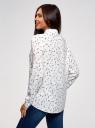 Блузка вискозная прямого силуэта oodji #SECTION_NAME# (белый), 11411098-3/24681/3079G - вид 3