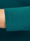 Платье облегающее с вырезом-лодочкой oodji #SECTION_NAME# (зеленый), 14017001-6B/47420/6E00N - вид 5