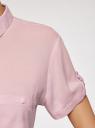 Блузка из вискозы с нагрудными карманами oodji #SECTION_NAME# (розовый), 11400391-4B/24681/4000N - вид 5