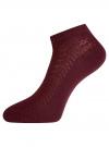 Комплект ажурных носков (3 пары) oodji #SECTION_NAME# (красный), 57102702T3/48022/7