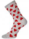 Комплект высоких носков (3 пары) oodji #SECTION_NAME# (разноцветный), 57102902T3/47469/40 - вид 3