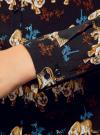 Блузка принтованная из вискозы oodji #SECTION_NAME# (черный), 11411087-1/24681/2935A - вид 5