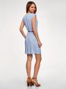 Платье вискозное без рукавов oodji #SECTION_NAME# (синий), 11910073B/26346/7010G - вид 3