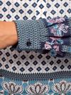 Блузка прямого силуэта с V-образным вырезом oodji #SECTION_NAME# (разноцветный), 21400394-3/24681/1279E - вид 5