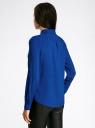 Блузка базовая из вискозы oodji #SECTION_NAME# (синий), 11411136B/26346/7500N - вид 3