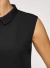 Топ базовый из струящейся ткани oodji для женщины (черный), 14911006-2B/43414/2900N - вид 5