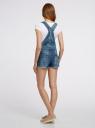 Комбинезон джинсовый с модными потертостями oodji #SECTION_NAME# (синий), 13109056-1/42559/7900W - вид 3