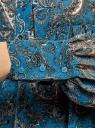 Платье шифоновое с асимметричным низом oodji для женщины (бирюзовый), 11913032/38375/7355E