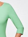Платье трикотажное базовое oodji #SECTION_NAME# (зеленый), 14001071-2B/46148/6500N - вид 5