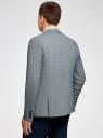 Пиджак хлопковый в мелкую графику oodji для мужчины (серый), 2L420190M/46516N/7910J