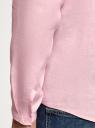 Рубашка льняная без воротника oodji #SECTION_NAME# (розовый), 3B320002M/21155N/4001N - вид 5