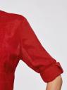 Туника с V-образным вырезом oodji #SECTION_NAME# (красный), 21412068-2/19984/4500N - вид 5