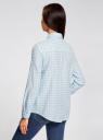 Рубашка свободного силуэта с регулировкой длины рукава oodji #SECTION_NAME# (синий), 11411099-1/43566/7010C - вид 3
